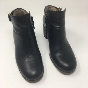Franco Sarto Black Leather Ankle Boots Sz 6.5